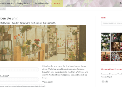 Blumen Donauwoerth Screenshot