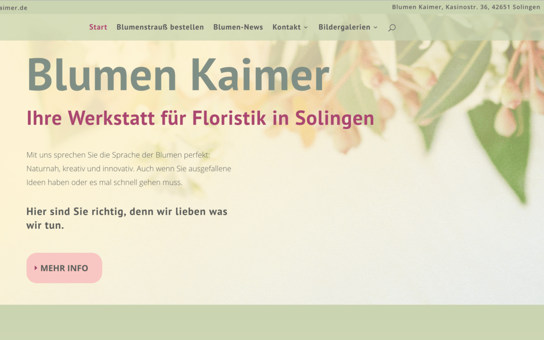 Blumen Kaimer in Solingen