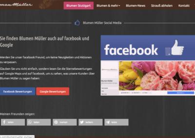 Blumen Mueller Screenshot Mit Facebook