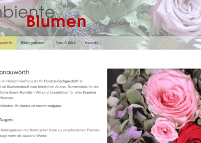 floristweb Referenz: Website Blumen Donauwört