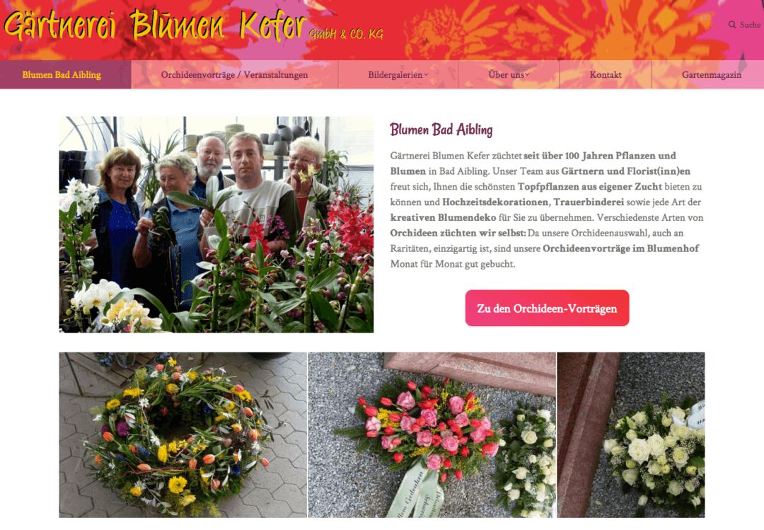 floristweb Referenzen Blumen Kefer Bad Aibling