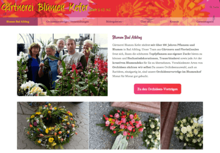 floristweb Referenzen Blumen Kefer Bad Aibling