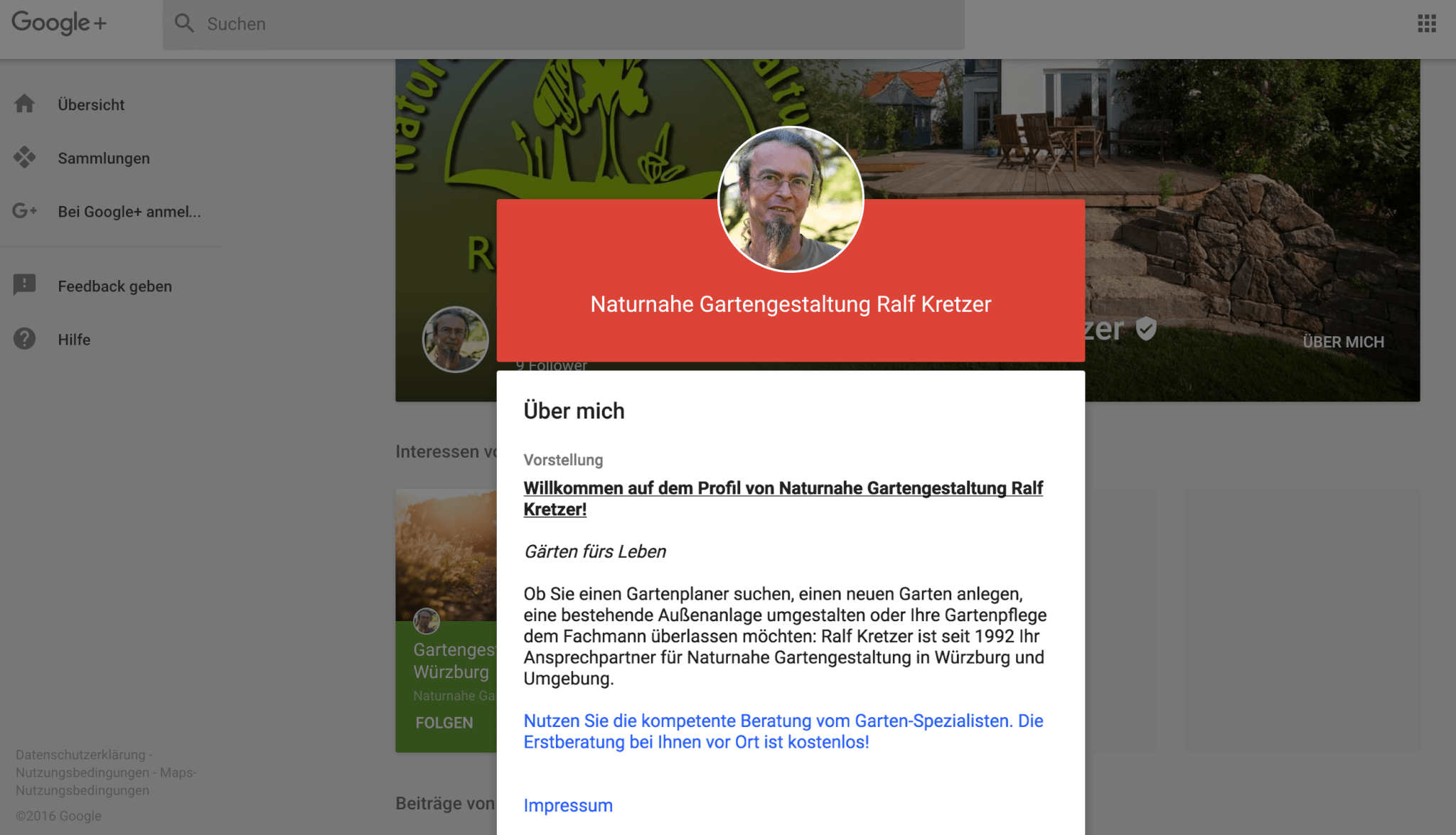 Ihre eigene Google+ Seite informiert Kunden vorab
