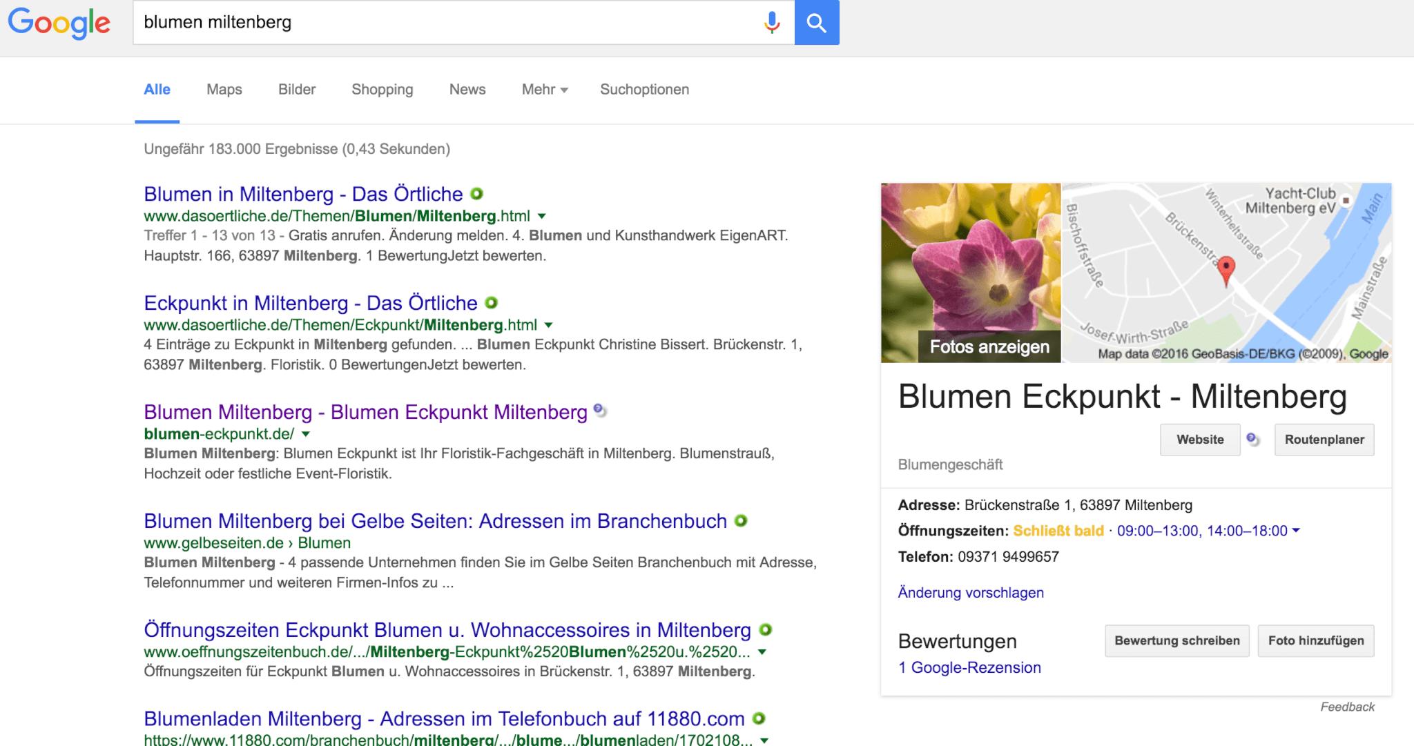 Inhaber-Zertifizierung bei Google MyBusiness für Seriosität