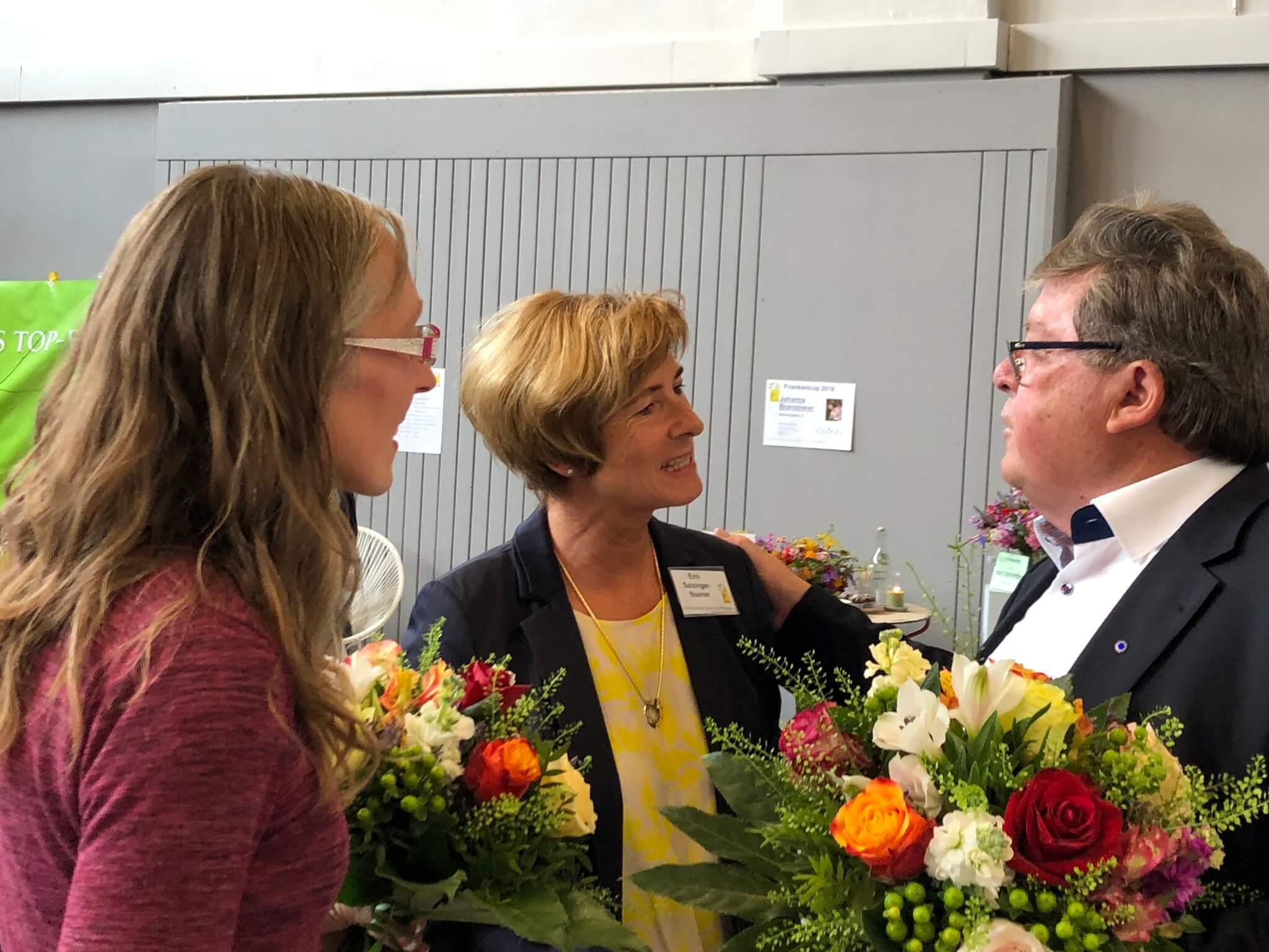 Lin Scherer, Erni Salzinger-Nuener, Dr. Adolf Bauer