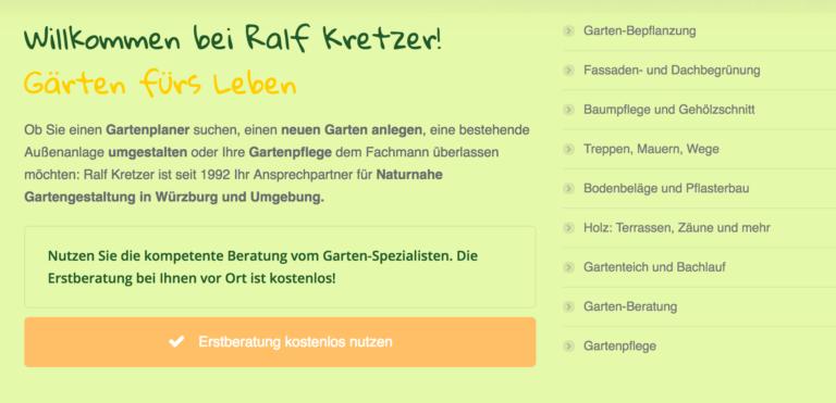 Ralf Kretzer Website bei floristweb