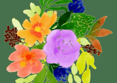 Runder Blumenstrauss