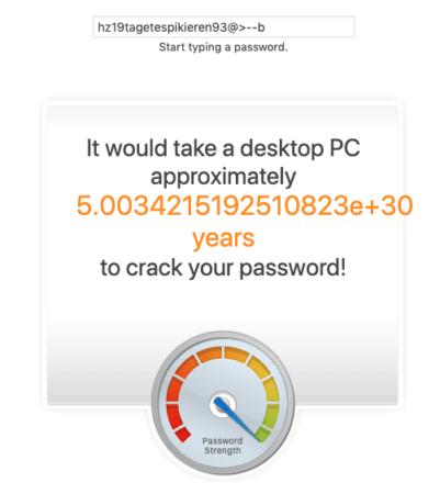 Unknackbares Passwort2